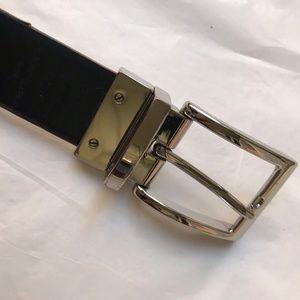 """Michael Kors Black/Brown reversible belt 48"""""""